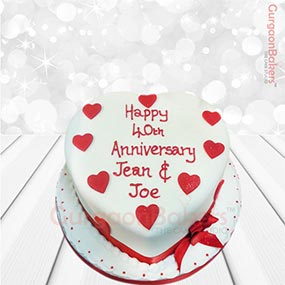 Anniversary Cake with Love
