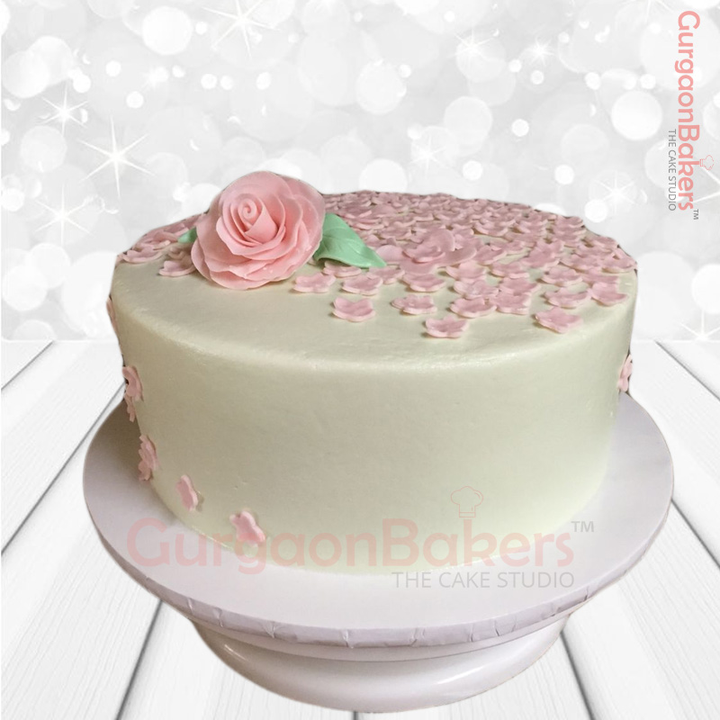 Bed of Roses Anniversary Cake
