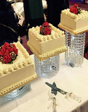 Bejewelled Wedding Cake Trio