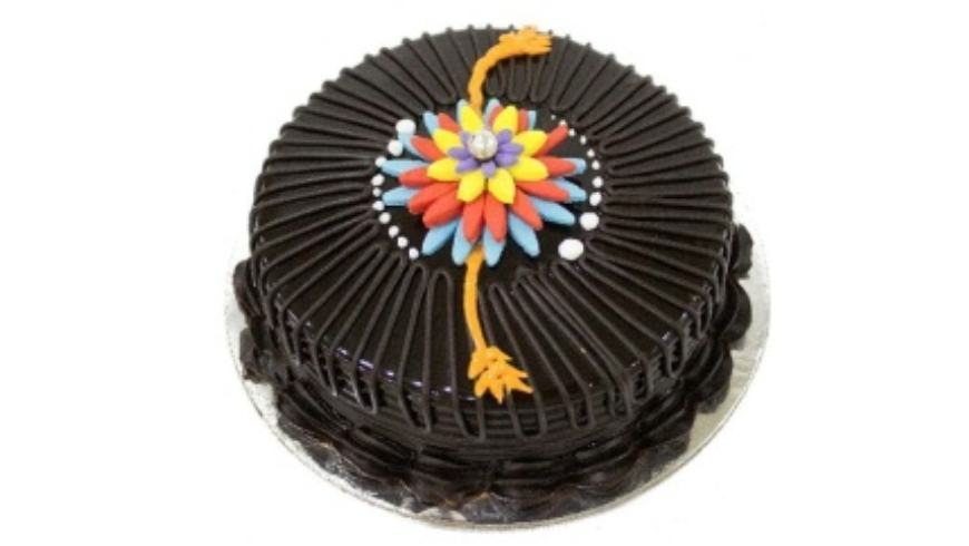 ChocoliciousRakhi-Cake