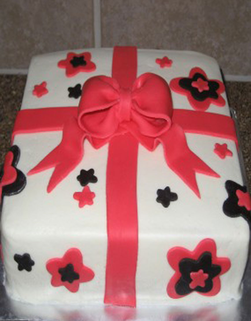 Floral Gift Cake