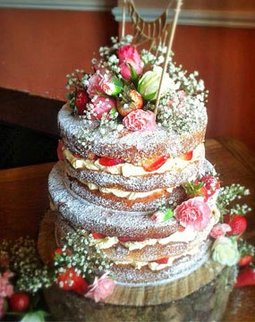 Frost Free Berry Blossom Wedding Cake
