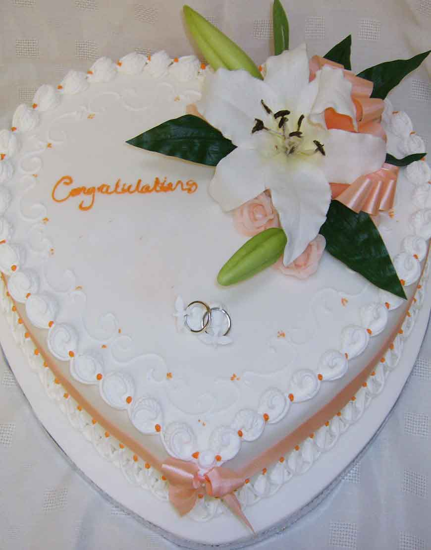 Heart of Hearts Wedding Cake