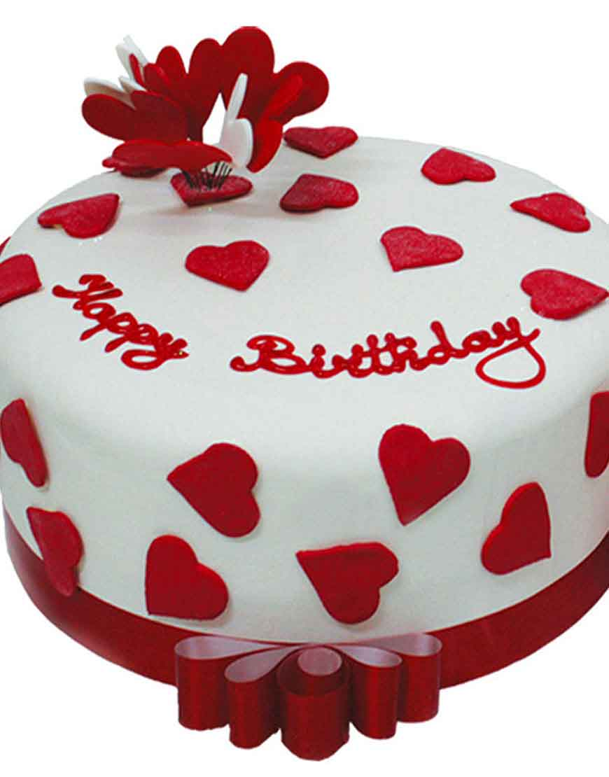 Say It With Hearts Birthday Cake From Gurgaonbakers