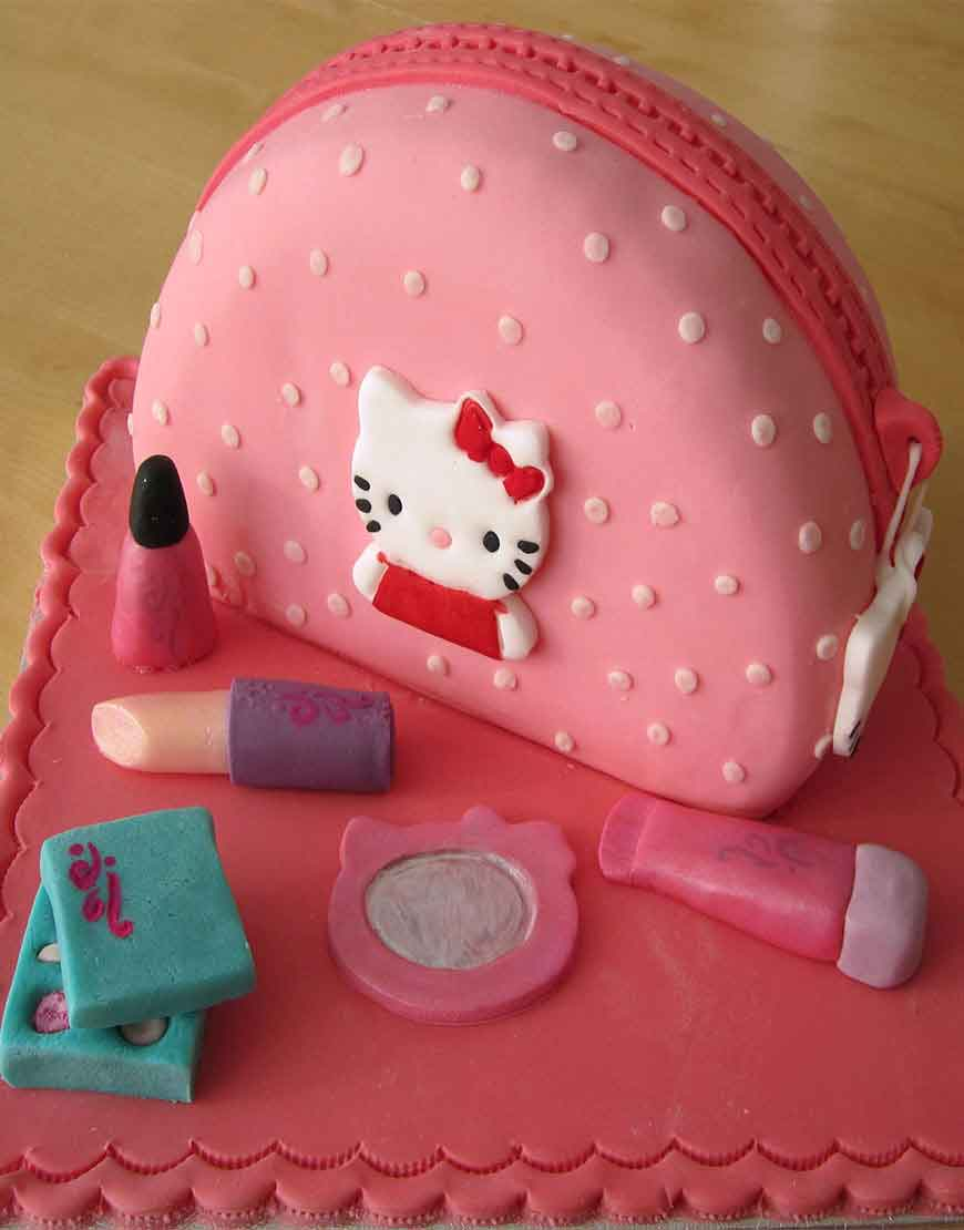 Hello Kittie Birthday Cake