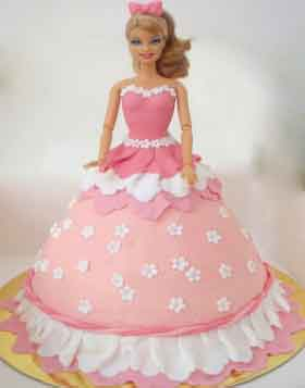 I love My Barbie Birthday Cake
