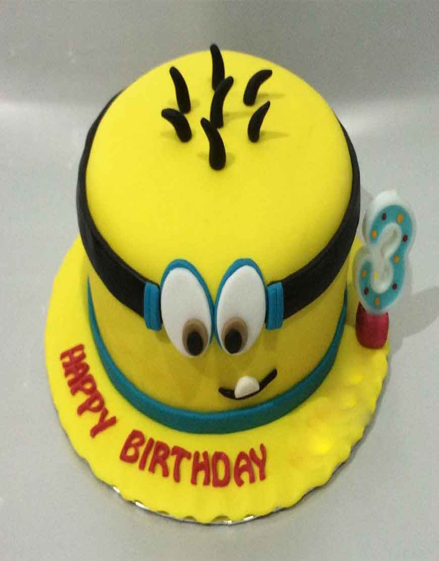 Minion Birthday Cakes for Kids GurgaonBakers