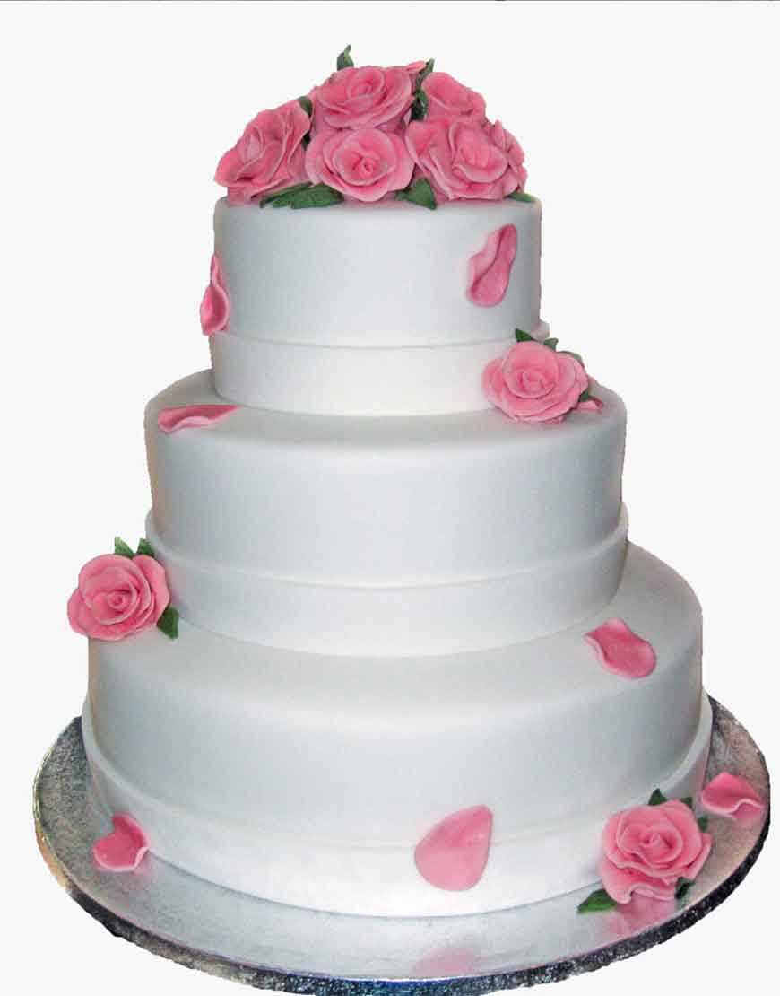 wedding cake with rose petals pink petals wedding cake an exquisite cake 26958