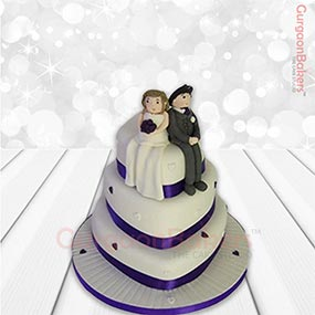 Purple Layer Anniversary Cake