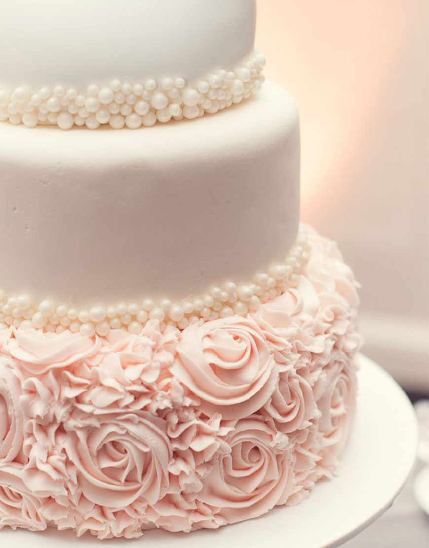 Ruffles, Pearls and All Things Girly Wedding Cake