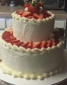 Strawberry Passion Wedding Cake