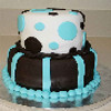 Strips and Dots Birthday Cake