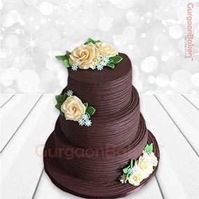 Three Tier Chocolaty Cake