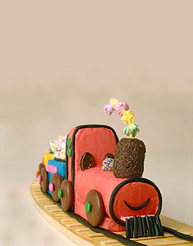 Beautiful Choo Choo Train Birthday Cake