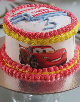 Dashing Lightning McQueen – Cars Cake