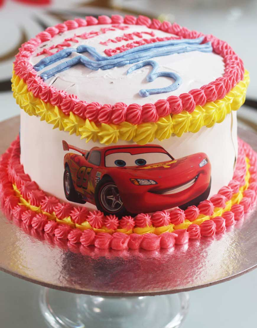 Cars Themed Cake 2