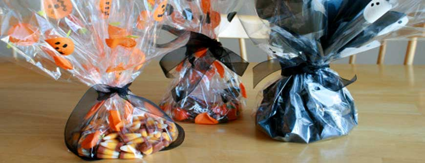 Cellophane paper is used as treat bags