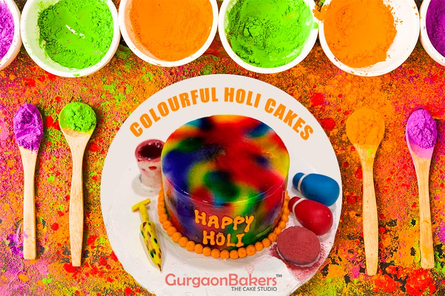 Colourful Holi Cakes