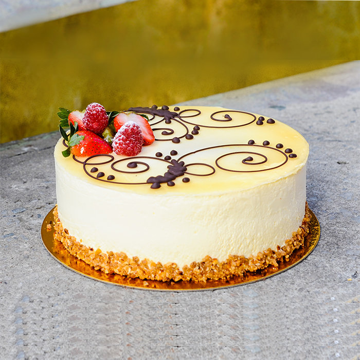 Outstanding Delish Lemon Mousse Cake Order Online Birthday Cake Gurgaonbakers Funny Birthday Cards Online Elaedamsfinfo