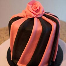 Pink Brown Flower Cake
