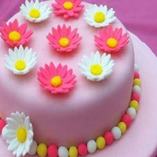 Pond of Flowers Cake