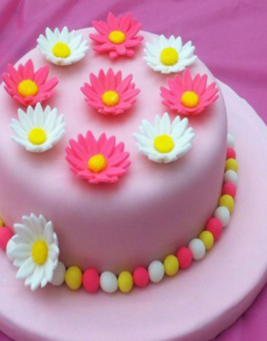 Charming Pond Of Flowers Birthday Cake Gurgaonbakers