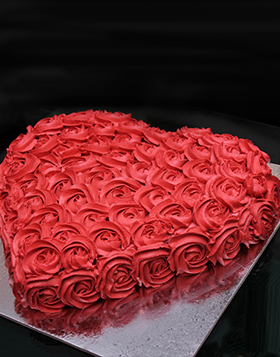 Red Flower Fantasy with Cake