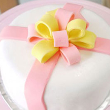 Ribbon on Top Cake